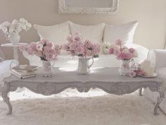 Shabby Chic Home Interiors – Decorating Tips For All Romantic Living Room, Shabby Chic Living Room, Shabby Chic Cottage, Shabby Chic Homes, Shabby Chic Furniture, Living Room Decor, Shabby Bedroom, Rose Cottage, Decor Room