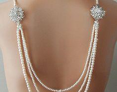 Gran Gatsby boda collar collar de perlas de por AmbrosiaBridal