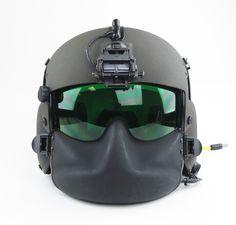 Gentex HGU-56/P Maxillofacial Shield and ANVS mount