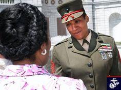 Bertha P. Billeb, first female African American USMC Sargeant Major Female Marines, Women Marines, African American Women, African Americans, Once A Marine, We The Kings, People Running, Military Women, Semper Fi