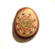 Hand painted art stone/paperweight. by SeeQueenStones on Etsy, £10.00