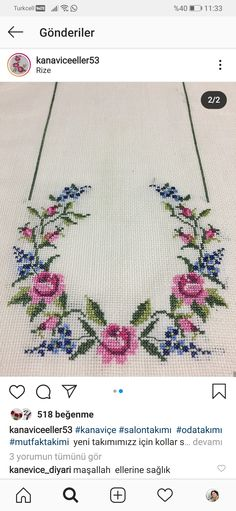 Cross Stitch Borders, Cross Stitch Flowers, Cross Stitch Designs, Cross Stitch Patterns, Cross Stitch Embroidery, Embroidery Patterns, Hand Embroidery, Small Flowers, Diy Flowers