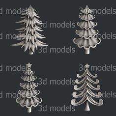 14 3D Models STL CNC Router Artcam Aspire Christmas NewYear Set Cut3D Vcarve