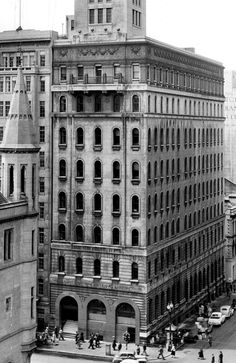1953: APA Tower as seen from the ground up. Picture: Herald Sun Image Library/ARGUS