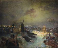 The Slav Epic #11:  After the Battle of Vitkov by Alphonse Mucha