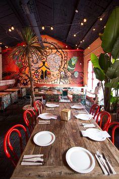 Mexican Restaurant Design, Mexican Bar, Mexican Seafood, Restaurant Exterior, Pop Up Restaurant, Restaurant Interior Design, Seafood Restaurant, Restaurant Ideas, Coffee Shop Interior Design