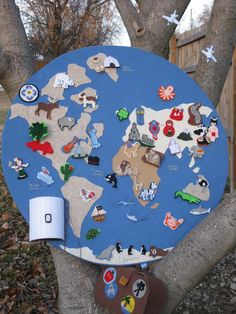 Felted Wall Globe Kit. $68.00, via Etsy.  Pricy but pretty maybe make to hand down??