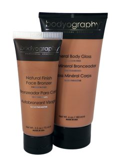 Liquid Bronzers - Mineral Body Gloss and Natural Finish Face Bronzer