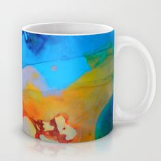 The Right Path - Colorful Abstract Art By Sharon Cummings Mug by Sharon Cummings - $15.00