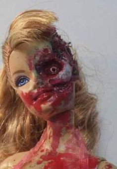 Zombie Barbie // gotta try this!!