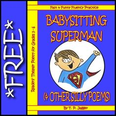 Free Readers' Theatre Poetry: Babysitting Superman (& Other Silly Poems) Teaching Tools, Teaching Math, Teacher Resources, Silly Poems, Drama Activities, Drama Class, Readers Theater, English Reading, Reading Fluency