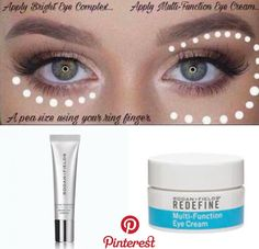 How to apply rodan+field multi function eye cream and the new active hydration bright eye complex. Fix those dark under eye circle as well as find lines. Natural Eye Cream, Anti Aging Eye Cream, Best Eye Cream, Natural Eyes, Natural Beauty, Rodan Fields Skin Care, My Rodan And Fields, Rodan And Fields Business, Eye Cream For Dark Circles