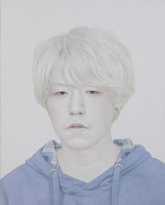 Artist Heo YongSung (Korean: 1982) | Painter Heo YongSung renders delicate portraits of disaffected youths using traditional Korean ink wash on paper. Heo's pallid subjects are marked by their strange eyes.