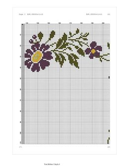 Cross Stitch Flowers, Crochet Doilies, Projects To Try, Embroidery, Cross Stitch Borders, Craft, Drawings, Ideas, Monograms