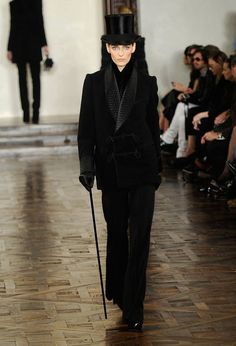 Ralph Lauren Fall 2012 Collection  I don't want anything here but the top hat, gloves, and cane