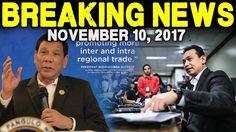 BREAKING NEWS TODAY NOVEMBER 10, 2017 PRESIDENT DUTERTE l TRILLANES  ASE...