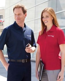 Promotional Products Ideas That Work: SHIELD MEN'S SNAG PROTECTION SOLID POLO. Get yours at www.luscangroup.com