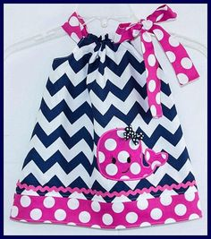 Infant Toddler Girl Navy Hot Pink Chevron Polka Dot Bow Whale Boutique Dress by SwankyDudzBoutique on Etsy