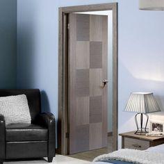 Bespoke Apollo Chocolate Grey Flush Door - Prefinished.    #door #internaldoor #bespokedoor #contemporarydoor #interiordoor