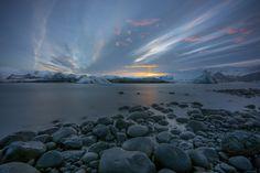 Jökulsárlón sunset by Rune Hansen Popular Photography, Photos Of The Week, Pacific Northwest, Runes, Landscape Photography, Travel Photography, Travel Photos, Tourism, Island