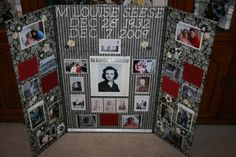 """funeral picture display ideas 