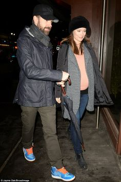 Olivia Wilde is raising her denim game in J Brand's Maternity Rail in Kinetic while arriving at Madison Square Garden for a Knicks Game with Jason Sudeikis in #NYC.
