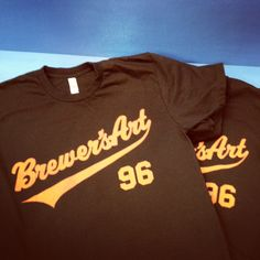 Brewer's Art/Resurrection tees. For the iconic Baltimore brewery and restaurant. Discharge ink on American Apparel tee.