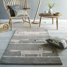 Mr Fox Rugs 25304 Silver by Scion - Free UK Delivery - The Rug Seller