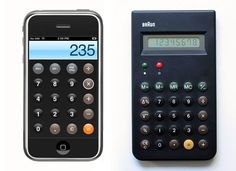 Dieter Rams calculator, inspired iOS virtual calculator.