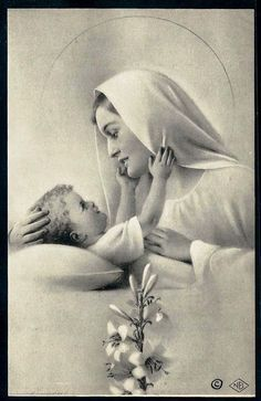 Holy Mary and her Little Love.....
