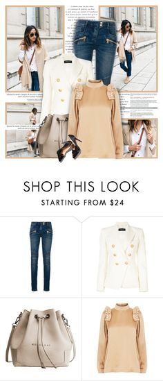 """""""The road ahead"""" by ellawine ❤ liked on Polyvore featuring Balmain and Mother of Pearl"""