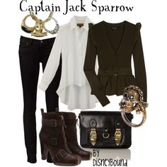 Captain Jack Sparrow, created by lalakay on Polyvore