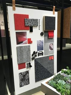 Inspiration board. On display - inspiration, materials and textures. Interface stand. #2016sff #design #interiordesign