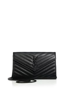 6987db1ceb Saint Laurent - Saint Laurent Monogram Medium Textured Matelasse Leather  Chain Wallet Chain Shoulder Bag,