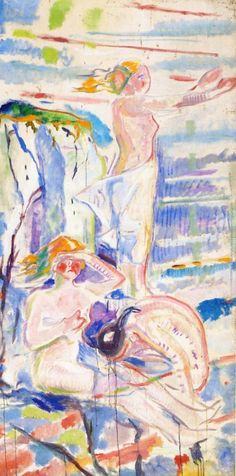 Woman Turned towards the Sun-1913 by Edvard Munch