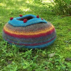 cat bed felted ready to ship cat cave