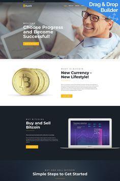 Moto CMS 3 Template , Bitunit - Bitcoin Cryptocurrency