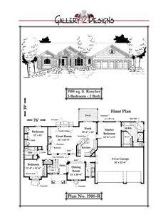 1988-R Garage Bedroom, Fireplace Built Ins, 3 Car Garage, Spa Tub, Snack Bar, Kitchen Organization, Great Rooms, House Plans, New Homes