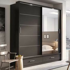 Home Decoration Products Sliding Wardrobe Designs.Home Decoration Products Sliding Wardrobe Designs Wardrobe Interior Design, Wardrobe Design Bedroom, Bedroom Bed Design, Bedroom Furniture Design, Home Interior, Furniture Layout, Wardrobe Laminate Design, Furniture Ideas, Simple Bedroom Design