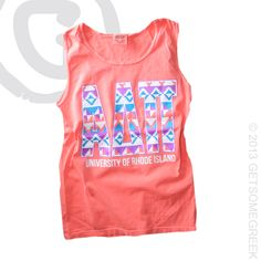 ALPHA DELTA PI CUSTOM GROUP ORDER ON TRIBAL COMFORT COLOR NEON TANKS!!