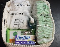 Put together a diaper caddy so you don't have to go to the nursery for every diaper change. The breastfeeding basket by your night stand is a good idea too