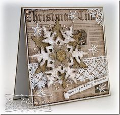 Bev Rochester: All Things I Love – A little bit of Tim - 11/23/14 (Tim Holtz Layered Snowflake Die)