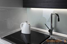 keukenglas lichtgrijs metallic