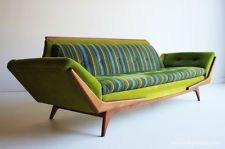 Mid Century Modern Adrian Pearsall Lime Sofa for Craft Associates