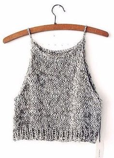 Make the Rebel Cami, a sassy but sweet drawstring halter top crochet pattern from TL Yarn Crafts. Challenge your crochet stills with unique shaping and texture Mode Crochet, Knit Crochet, Crochet Pattern, Crochet Clothes, Diy Clothes, Summer Outfits, Cute Outfits, Diy Kleidung, Diy Vetement