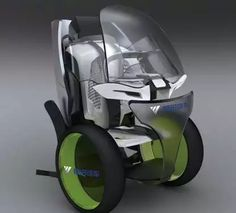 Moovie Personal Vehicle - Han Jing's 'Moovie' electric vehicle is an eco-friendly and emission-free personal three-wheeler with two different driving modes. Electric Cars, Electric Vehicle, Design Transport, Futuristic Cars, Transportation Design, Future Car, Concept Cars, Cars And Motorcycles, Cool Cars