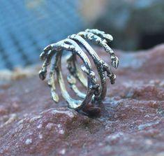 Elfin Sterling Silver Branch Ring by angidega on Etsy, $127.00