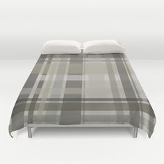 Plaid Duvet Cover by GoAti - $99.00