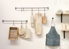 These strong hanging rail bars can be used in a variety of ways for useful storage space. Handmade from heavy steel bar they are great in the kitchen for hanging pots/ute Hanging Rail, Hanging Pots, Scaffold Shelving, Bathroom Accessories, Home Accessories, Kitchen Rails, Kitchen Board, Wood Pizza, Pan Storage