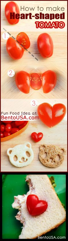 Perfect for #Valentine's Day  .. How to make Heart Shaped Tomato in a snap ..
